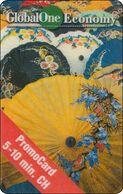 Schweiz  Phonecard   Global One Thailand Umbrella Market - Svizzera