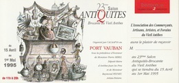 Peynet - Invitation Salon D'Antibes 1995 - Peynet