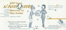 Peynet - Invitation Salon D'Antibes 1997 - Peynet