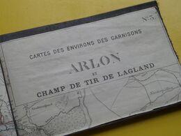 VIRTON & ARLON Cartes Des Environs Des GARNISONS N° 3 ( Kaart Op Katoen / Linnen / Cotton ) Carte à 2 Pcs.! Zie Scans ! - Cartes Géographiques