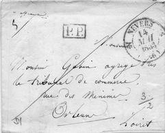 Cachet 12 NEVERS-Port Payé-L.A.C. Du 13/5/33. - 1801-1848: Vorläufer XIX