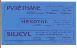 Buvard Pharmaceutique - Pyréthane - Hexotal - Silicyl - Chemist's
