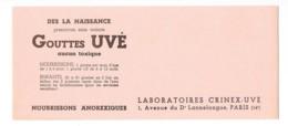 Buvard Pharmaceutique - Gouttes Uvé - Chemist's