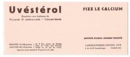 Buvard Pharmaceutique - Uvéstérol - Chemist's