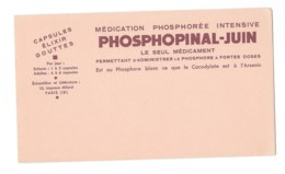 Buvard Pharmaceutique - Phosphopinal - Juin - Chemist's