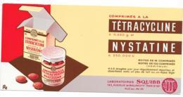 Buvard Pharmaceutique - Tétracycline - Nystatine - Chemist's