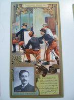 Image Cartonnée Gaufrée Publicité Art Nouveau LU / LEFEVRE UTILE / Personnages Célèbres / GEORGES FEYDEAU - Lu
