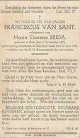 Geel-aart, 1941, Franciscus Van Sant, Breda - Imágenes Religiosas