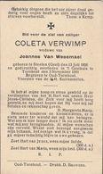 Geel, Steelen, Oud-Turnhout, 1941, Coleta Verwimp, Van Wesemael - Imágenes Religiosas