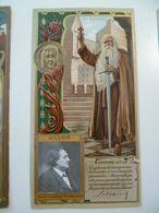 Image Cartonnée Gaufrée Publicité Art Nouveau LU / LEFEVRE UTILE / Personnages Célèbres SILVAIN Burgaves - Lu