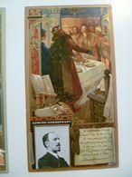 Image Cartonnée Gaufrée Publicité Art Nouveau LU / LEFEVRE UTILE / Personnages Célèbres / EDMOND HARAUCOURT - Lu