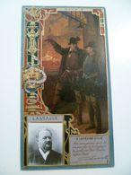 Image Cartonnée Gaufrée Publicité Art Nouveau LU / LEFEVRE UTILE / Personnages Célèbres / LASSALLE - Lu