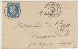 Ariège : ESC N° 60/T18 Pamiers , BR I N.i. 1876 - 1849-1876: Periodo Classico