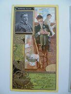 Image Cartonnée Gaufrée Publicité Art Nouveau LU / LEFEVRE UTILE / Personnages Célèbres / ALPHONSE ALLAIS - Lu
