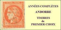 Andorre, Année Complète 1986, N° 345 à N° 354** Y Et T - Años Completos