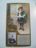 Image Cartonnée Gaufrée Publicité Art Nouveau LEFEVRE UTILE / Personnages Célèbres / LEITNER - Lu