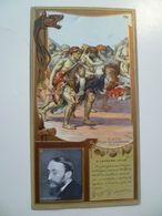 Image Cartonnée Gaufrée Publicité Art Nouveau LEFEVRE UTILE / Personnages Célèbres / FERNAND CORMON - Lu