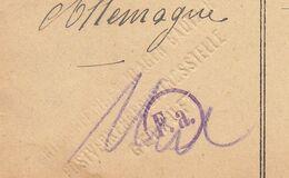 CPFM  Prisonnier De Guerre Français Bautzen Avec Cachet à Sec 1918 (2 Scans) - Guerra Del 1914-18