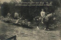 Heranschaffen Von Holz Für Understände Auf Einer Feldbahn Im Westen 17*12cm Paul Hoffmann 1914/15 WWI WWICOLLECTION - Weltkrieg 1914-18