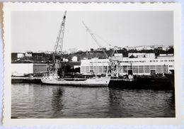 """Négatif 6 X 9 N&B Et Photographie Du Cargo """"Tourmaline"""" à Brest - Barche"""