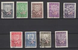 Belgique: 1941. COB : 547/55A Oblitéré(s). - Belgique