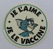 Autocollant Tom Et Jerry Je L'aime Je Le Vaccine Cryptone 1990 Tuner Enternainment - Zelfklevers