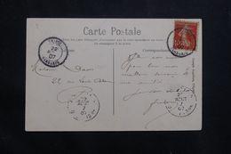 LEVANT FRANÇAIS - Affranchissement Semeuse De Tripoli Sur Carte Postale En 1907 Pour La France  - L 64727 - Storia Postale