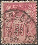 France - Type Sage II - N°98 Oblitération AUNEAU (Eure & Loir) - Marcophilie (Timbres Détachés)