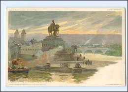 Y16979/ Koblenz  Kaiser Wilhelm-Denkmal   Litho AK Ca.1900 - Deutschland