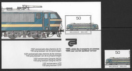 België/Belgique 1985xx - Blok's Postfris/Blocs Neuf - BL61xx + 2174xx - De Spoorwegen/Les Chemins De Fer. - Libretti 1962-....