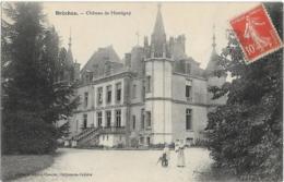 D37 - BRÊCHES - CHÂTEAU DE MONTIGNY - Femme, Enfants Et Chien Devant Le Château - Francia