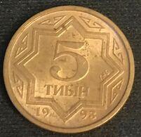 KAZAKHSTAN - 5 TYIN 1993 - KM 2a - Zinc Plaqué Cuivre - Kazakhstan