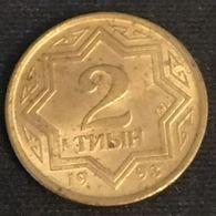 KAZAKHSTAN - 2 TYIN 1993 - KM 1a - Zinc Plaqué Cuivre - Kazakhstan
