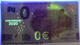 0 EURO 2020 ANNIVERSARY - SOISSONS - HISTOIRE ET PERSONNAGES DE L'AISNE - CLOVIS, LA SCÈNE DU VASE - Pruebas Privadas