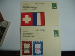 Lot De 3 Pret A Poster Roanne Foire Jumelage Morges - Storia Postale