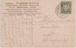 Deutschland/Bayern 1908: Stempel: LANDSHUT I. Ndb. 1.ALTSTADT, Zweikreisstempel 1908 - Bavière