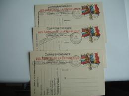 Lot De 4 Postes Bureau Frontiere  E  Cachet Franchise Postale Militaire Guerre 14.18 - Postmark Collection (Covers)