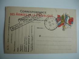 Lot De 3 Postes Bureau Frontiere  A  Cachet Franchise Postale Militaire Guerre 14.18 - Postmark Collection (Covers)