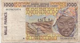 Afrique De L'Ouest 1000 Francs (mauvais état) - Bankbiljetten