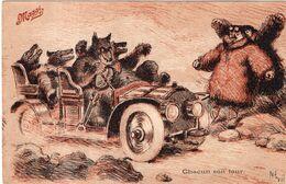 """Illustrateur Nevil. Les Potages MAGGI. """" Chacun Son Tour """" . Cachet De 1908. - Nevil"""
