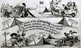 Illustrateur Allemagne CAMPING Vacances Tente SCOOTER VESPA Verlag A. Mauthe Balingen Deutschland Germany - Zonder Classificatie
