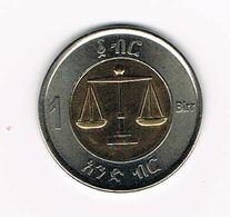 &   ETHIOPIE  1 BIRR 2010 ( 2002 ) - Etiopía