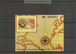 Colomb ( BF 38A XXX -MNH- Du Salvador) - Cristóbal Colón