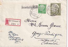 BUND 1955 LETTRE RECOMMANDEE DE TÜBINGEN - Cartas