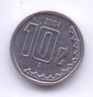MEXICO 2004: 10 Centavos, KM 547 - Mexico