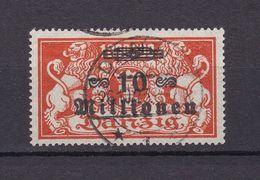 Danzig - 1923 - Michel Nr. 168 - Gestempelt - 120 Euro - Danzig