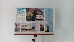 Coupure De Presse De 1989 Caravane Tassili 485 CP De Sterckeman - Camping