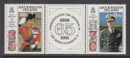 1991 Ascension QEII Birthday Complete Set Of 2 MNH - Ascension