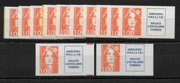 Lot De 12 X N°3009a Neufs, TB, Cote 60 Euros, Voir Photo - Collections