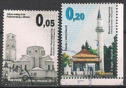Bosnien - Herzegowina  (2014)  Mi.Nr.  640 + 642  Gest. / Used  (12ga24) - Bosnia Herzegovina